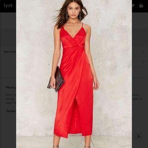 Love or Just a Game Red Satin Dress